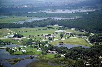 Aerial view of Pine Lake Retreat Center, FL
