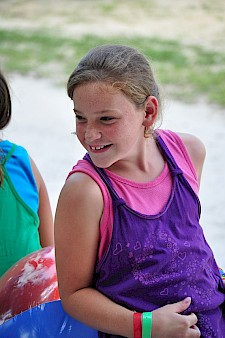 Smiling girl at Pine Lake Retreat Center, FL