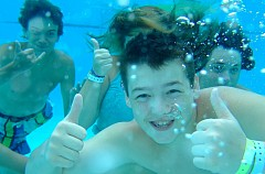 Kids underwater at Camp Kulaqua Retreat and Conference Center, FL